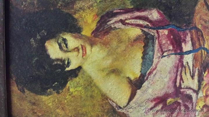 Vintage: LAMINA PINTADA CUADRO - Foto 2 - 54690345