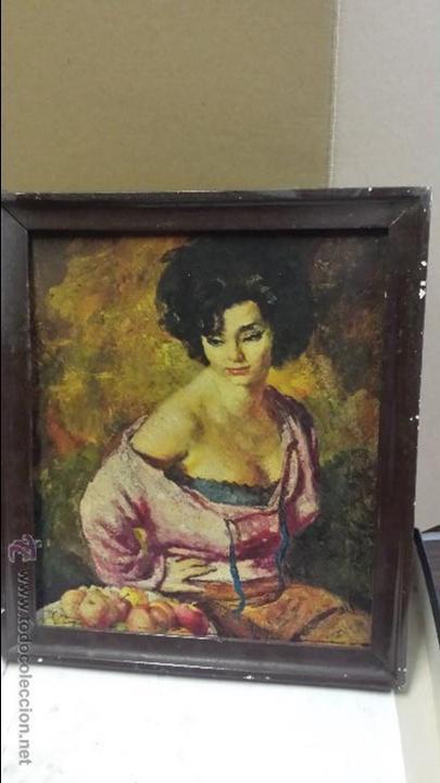 LAMINA PINTADA CUADRO (Vintage - Decoración - Varios)