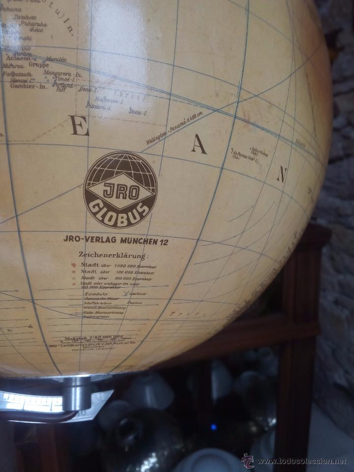 Vintage: GLOBO TERRAQUEO ALEMAN (BOLA DEL MUNDO) DE CRISTAL CON LUZ- JRO AÑOS 50 - Foto 3 - 54728865
