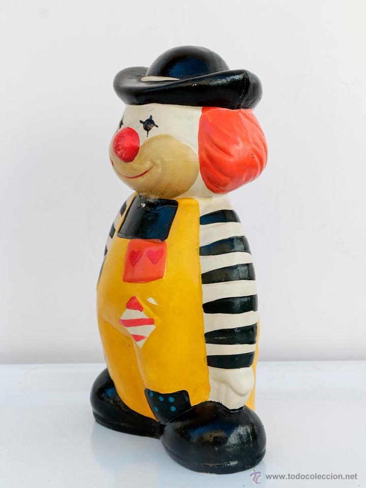 Vintage: Payaso hucha de barro, vintage. 24 cm altura - Foto 2 - 54749119