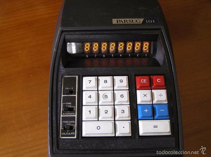 Vintage: ANTIGUA CALCULADORA PARSUG 101 - LEDS COLOR NARANJA AÑOS 70 DESKTOP CALCULATOR - - Foto 7 - 55176379