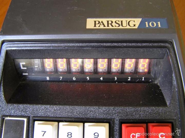 Vintage: ANTIGUA CALCULADORA PARSUG 101 - LEDS COLOR NARANJA AÑOS 70 DESKTOP CALCULATOR - - Foto 21 - 55176379