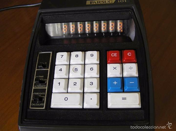 Vintage: ANTIGUA CALCULADORA PARSUG 101 - LEDS COLOR NARANJA AÑOS 70 DESKTOP CALCULATOR - - Foto 42 - 55176379