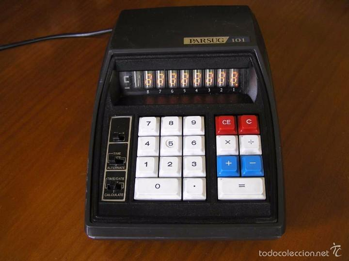 Vintage: ANTIGUA CALCULADORA PARSUG 101 - LEDS COLOR NARANJA AÑOS 70 DESKTOP CALCULATOR - - Foto 45 - 55176379