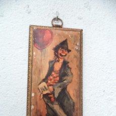 Vintage: CUADRO MADERA LAMINA AÑOS 60. Lote 55242151