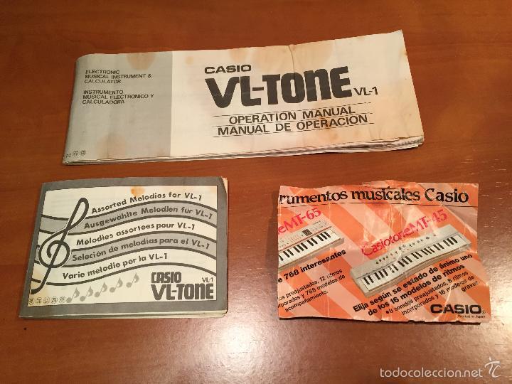 Vintage: TECLADO ELECTRONICO CASIO VL-TONE VL1 EN PERFECTO ESTADO. CON INSTRUCCIONES Y FUNDA - Foto 2 - 55324069