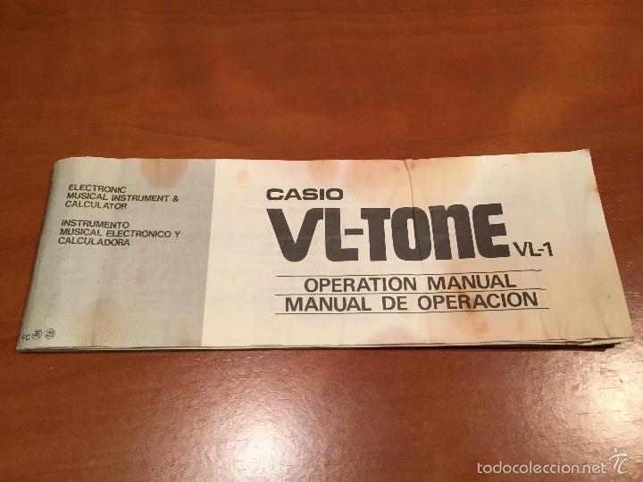 Vintage: TECLADO ELECTRONICO CASIO VL-TONE VL1 EN PERFECTO ESTADO. CON INSTRUCCIONES Y FUNDA - Foto 4 - 55324069