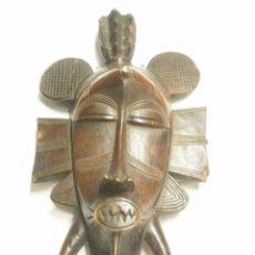 Vintage: MASCARA AFRICANA DE MADERA TALLADA. AÑOS 60. Lote 55339481