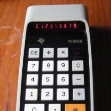 Vintage: CALCULADORA TEXAS INSTRUMENTS TI-2510 TI2510 FUNCIONANDO. Lote 55399725