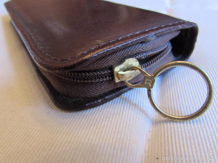 Vintage: antiguo Estuche de manicura - pedicura de piel con calzador - Trumm - Foto 2 - 55778414