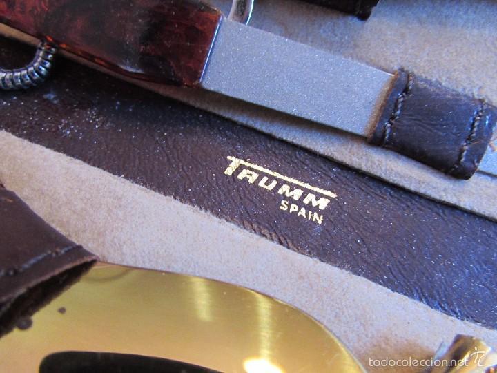 Vintage: antiguo Estuche de manicura - pedicura de piel con calzador - Trumm - Foto 4 - 55778414