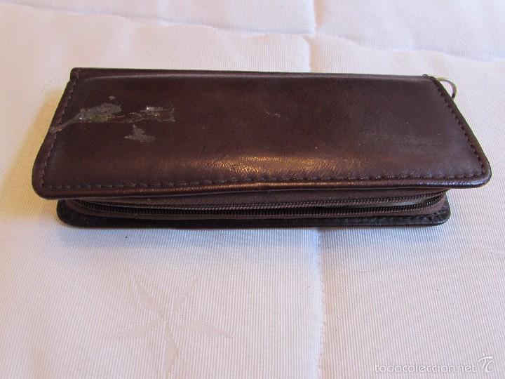 Vintage: antiguo Estuche de manicura - pedicura de piel con calzador - Trumm - Foto 5 - 55778414