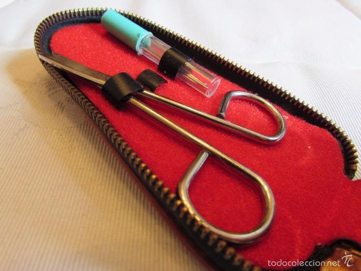 Vintage: Antiguo y completo estuche kit - set de costura de viaje en piel - Foto 3 - 55778554