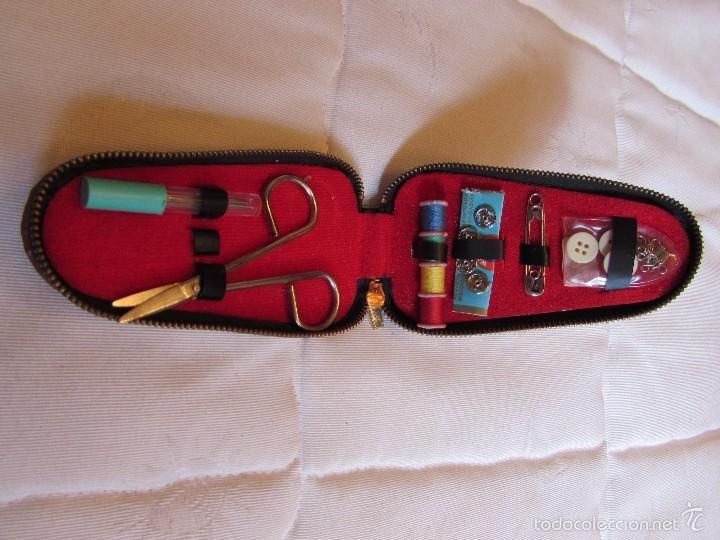 Vintage: Antiguo y completo estuche kit - set de costura de viaje en piel - Foto 4 - 55778554