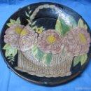 Vintage: BONITO PLATO GRANDE DECORATIVO PARA PARED FLOREADO. Lote 56027909