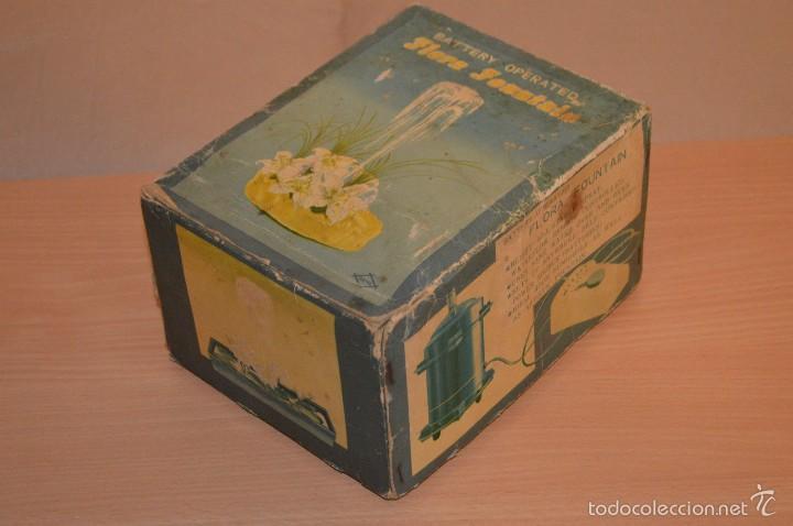 Vintage: VINTAGE - FLORA FOUNTAIN - BATTERY OPERATED - FUNCIONANDO - EN SU CAJA ORIGINAL - Foto 8 - 56106778