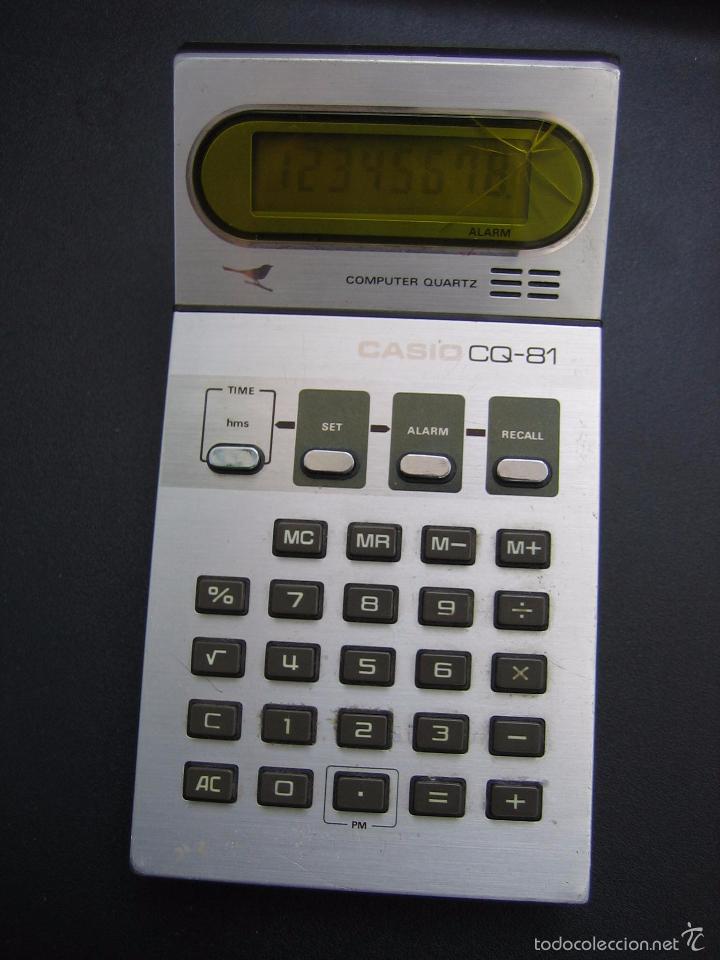 Vintage: Calculadora casio CQ-81. Funciona - Foto 2 - 56149208