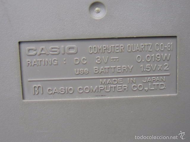 Vintage: Calculadora casio CQ-81. Funciona - Foto 10 - 56149208