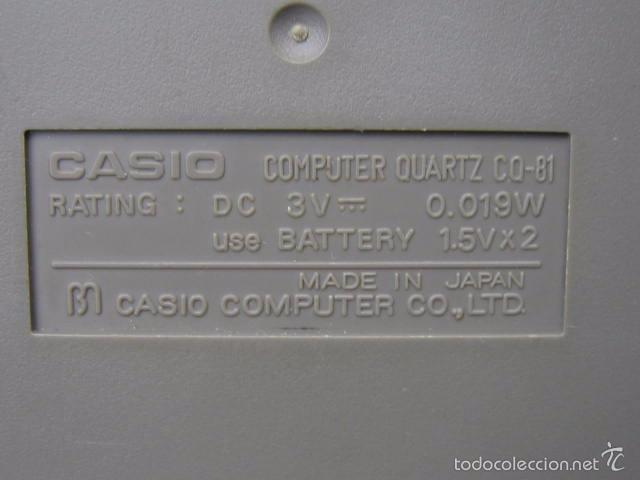 Vintage: Calculadora casio CQ-81. Funciona - Foto 11 - 56149208