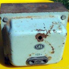 Vintage: TRANSFORMADOR CBL 220V PARA 125V. Lote 56246124
