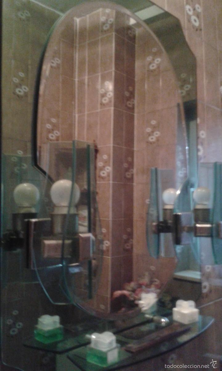 Conjunto ba o espejo con apliques y repisa m comprar for Conjunto jabonera bano
