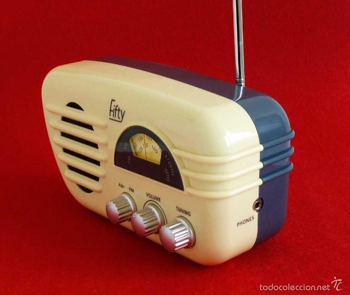 Vintage: RADIO RETRO FIFTY. FUNCIONANDO. VINTAGE DECORACIÓN - Foto 2 - 56500593