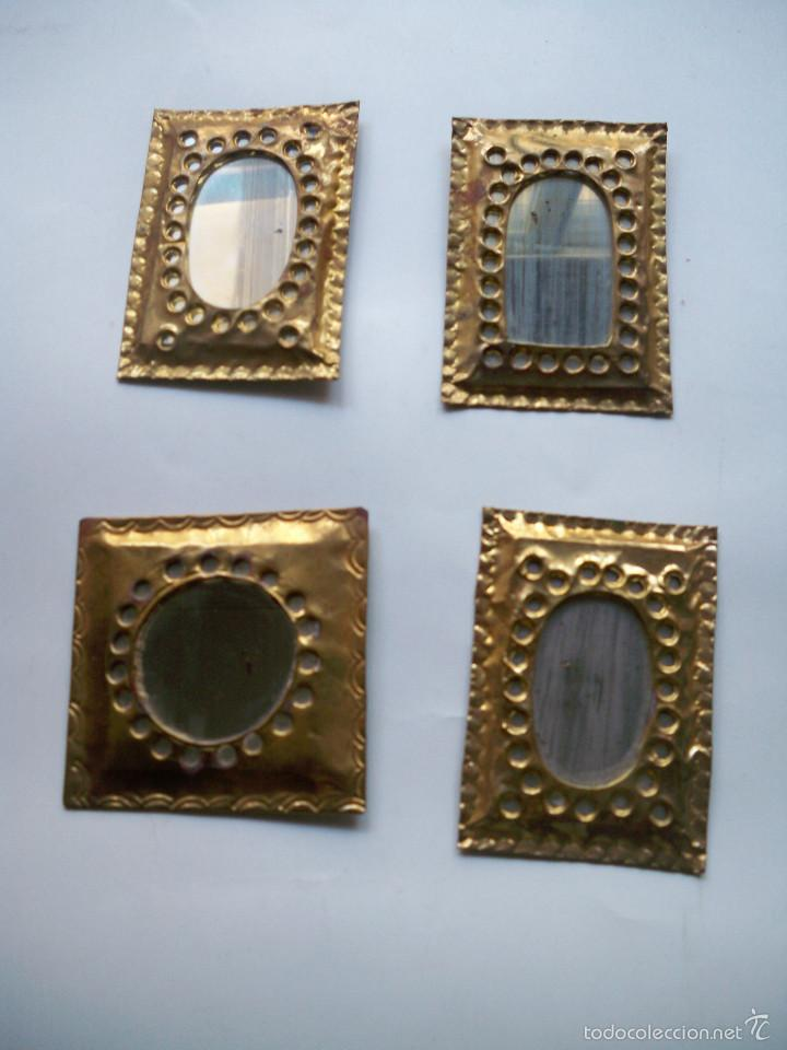 Espejos arabes marcos laton dorado repujado esp comprar for Espejo marco dorado