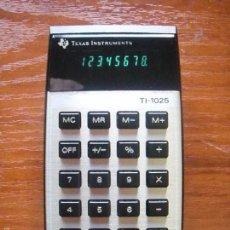 Vintage: CALCULADORA TEXAS INSTRUMENTS TI-1025 TI 1025 LEDS FUNCIONANDO. Lote 56553258