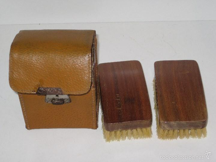 Vintage: Estuche de cepillos en piel - Foto 4 - 56665130