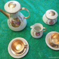 Vintage: ANTIGUO JUEGO DE CAFÉ TU Y YO DE PORCELANA SANTA CLARA. Lote 56715247