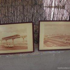 Vintage: FOTOGRAFIAS PUENTE CON TRANVIA Y COCHES INGLATERRA? ENGLAND PHOTOGRAPHS TRAM. Lote 56896352