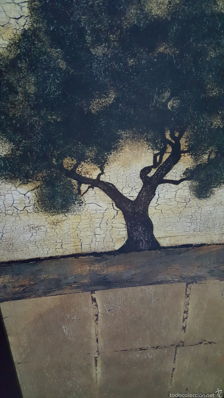 Vintage: Cuadro decoración arbol, paisaje 137x51cm - Foto 2 - 56929213