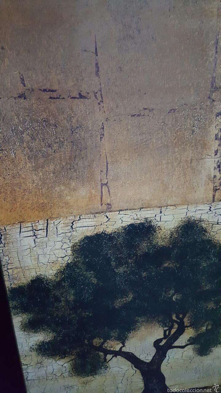 Vintage: Cuadro decoración arbol, paisaje 137x51cm - Foto 3 - 56929213