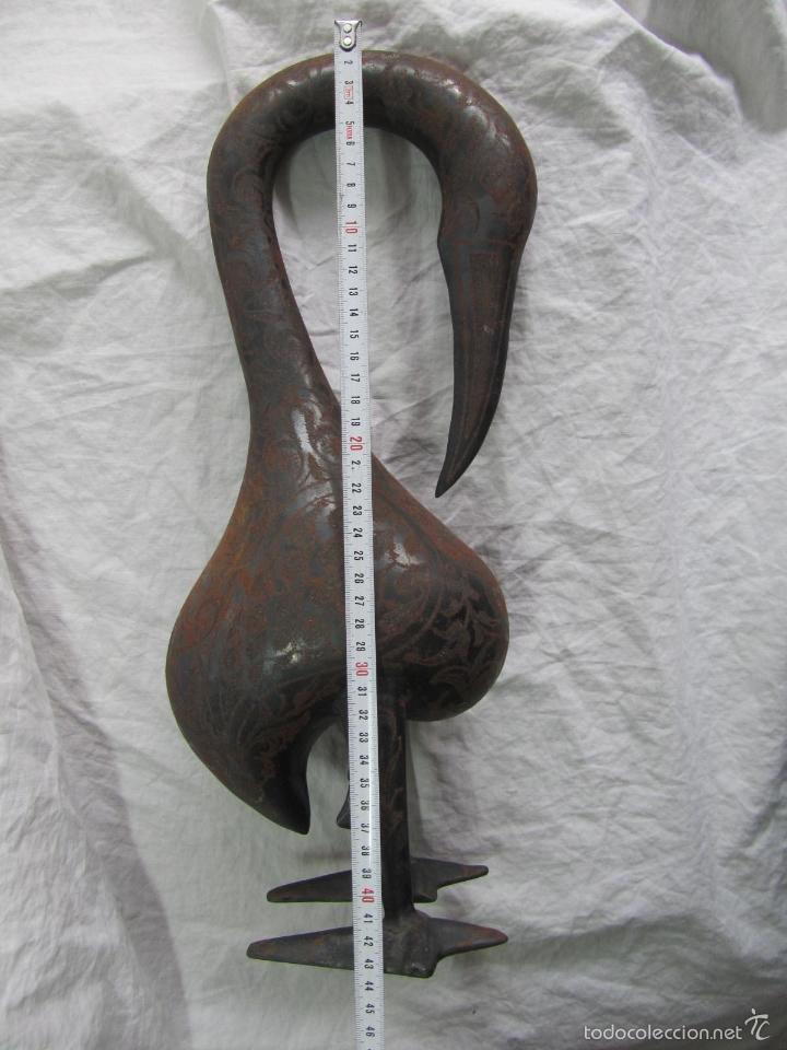 Vintage: Flamenco de hierro decorado a mano 44 centímetros altura - Foto 3 - 57023618