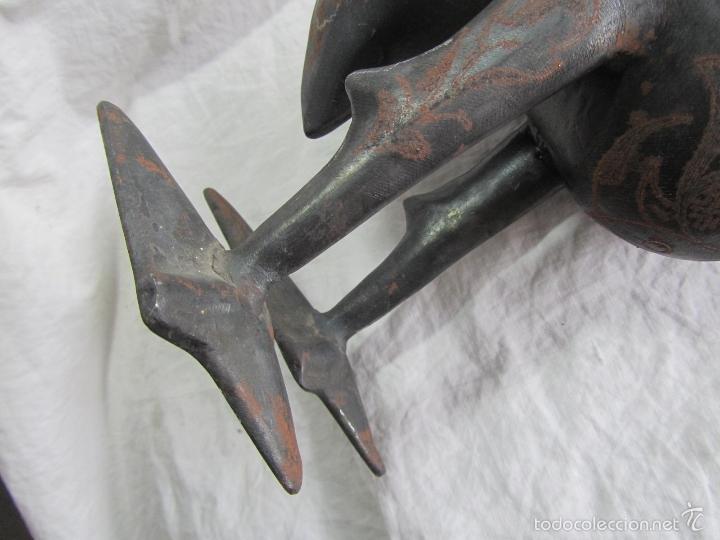 Vintage: Flamenco de hierro decorado a mano 44 centímetros altura - Foto 8 - 57023618