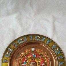 Vintage: PLATO DE MEXICO DE METAL. Lote 57025510