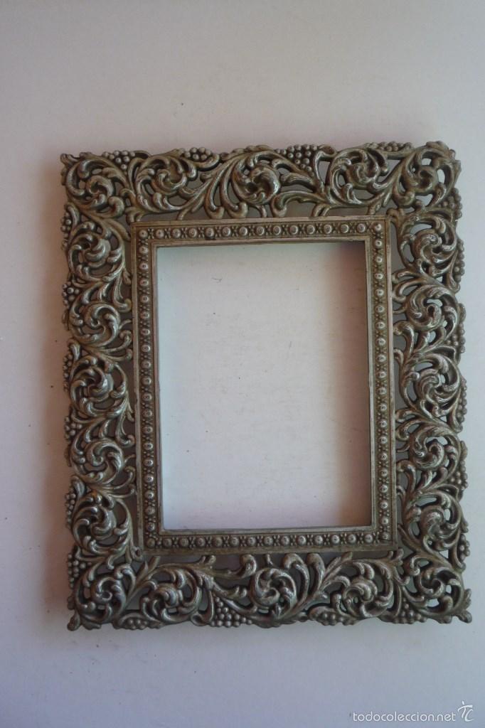 marco metalico antiguo para fotografía. tamaño - Comprar en ...