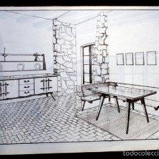 Vintage: MUEBLES VINTAGE - 48 LAMINAS - HABITACIONES Y ESQUEMA CONSTRUCCION. Lote 57134629