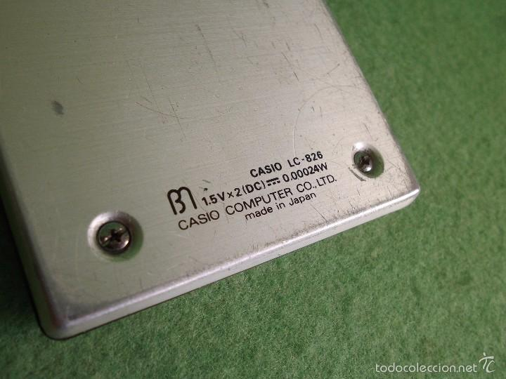 Vintage: DIFICIL CALCULADORA CASIO LC-826 LCD RETRO VINTAGE JAPON JAPAN LIQUID CRISTAL 1979 FUNCIONANDO - Foto 6 - 57149763