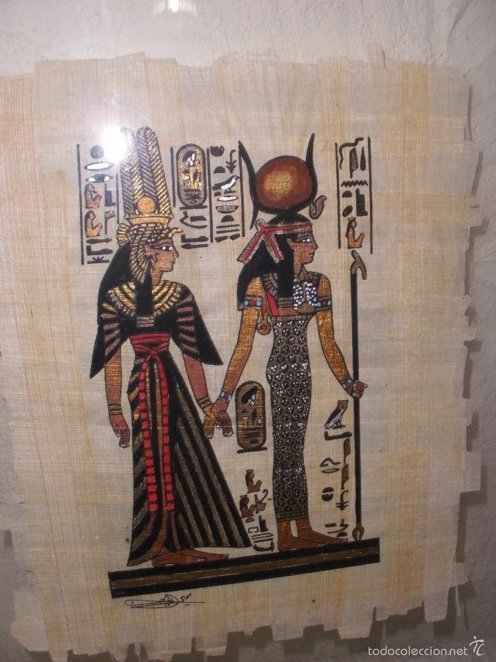 marco con cristal y papiro egipcio,cuadro con p - Comprar en ...