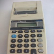 Vintage: CALCULADORA ANTIGUA CITIZEN CX-56. ELECTRONIC PRINTING CALCULATOR. 10 DIGIT. FUNCIONANDO.. Lote 57500058