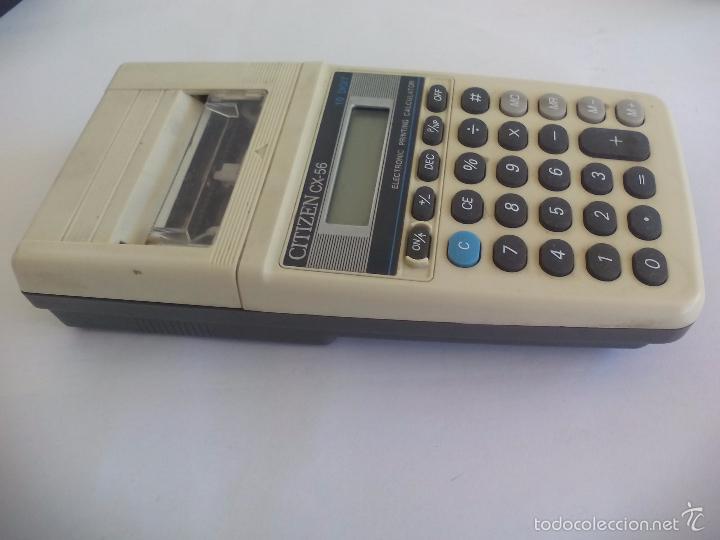 Vintage: Calculadora antigua Citizen CX-56. Electronic Printing calculator. 10 digit. Funcionando. - Foto 2 - 57500058