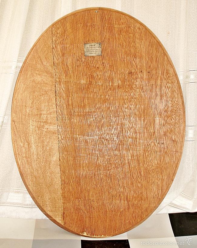 Vintage: Espejo Ovalado - Marco de Madera - Foto 5 - 57537568