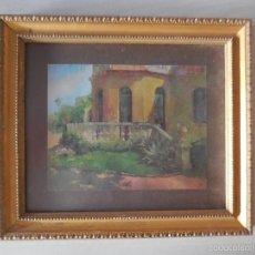 Vintage: LÁMINA ENMARCADA. AÑOS 70. MARCO DE MADERA DORADO. Lote 57541427