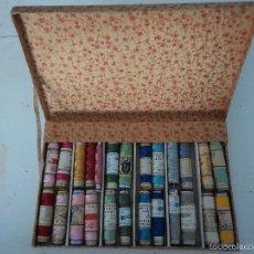 Vintage: CAJA CON BOBINAS DE HILO SURTIDAS. Lote 57563798