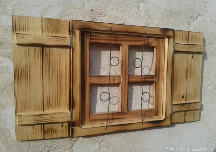 Ventana de madera con contraventanas y rejas v comprar - Rejas de madera ...
