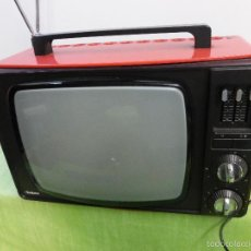 Vintage: ANTIGUO TELEVISOR TELEVISIÓN INTER ROJO VINTAGE RETRO AÑOS 60 ESTILO SPACE ACE - FUNCIONANDO. Lote 57688046