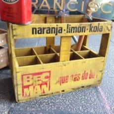 Vintage: CAJA MADERA ANTIGUA ORIGINAL BEBIDAS GASEOSAS BEC MAC VINTAGE. Lote 58097701