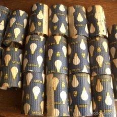 Vintage: 17 ANTIGUAS BOMBILLAS PHILIPS DE BALLONETA 130-60W SIN USAR. Lote 58107541