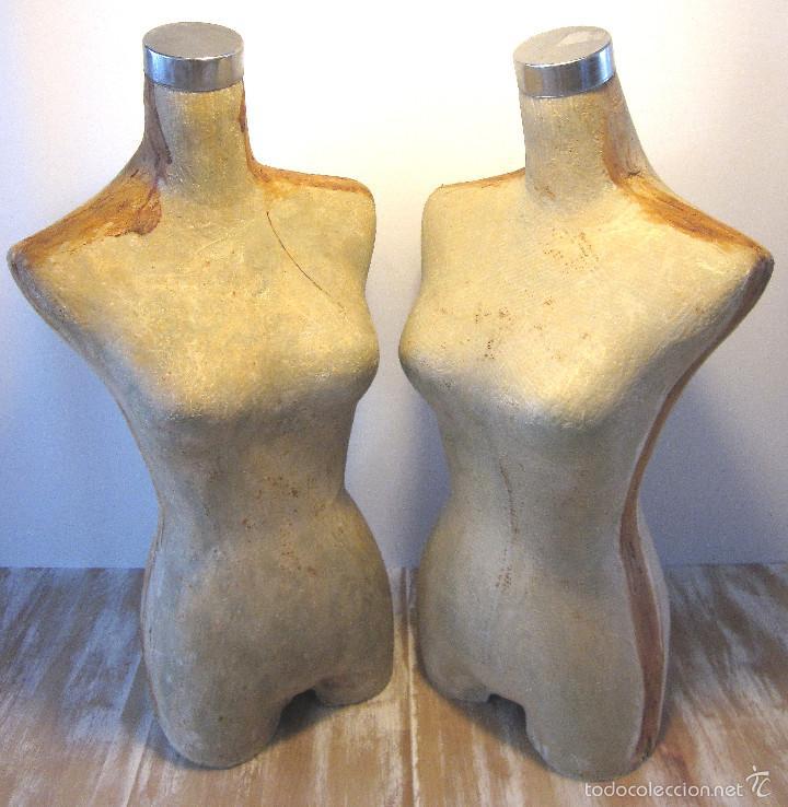 Dos maniquies maniqu torso busto mujer perche comprar en todocoleccion 58129102 - Perchero maniqui ...